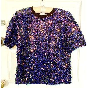 Urban Outfitters Sequined T-shirt XS New with Tags